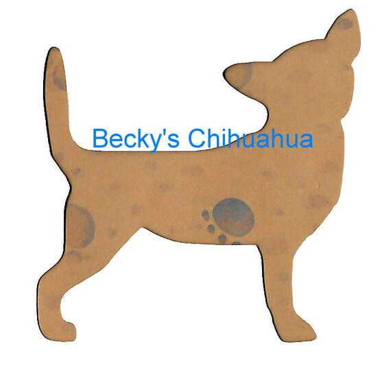 Puppy Bows ~ Chihuahua  dog breed plastic craft stencil