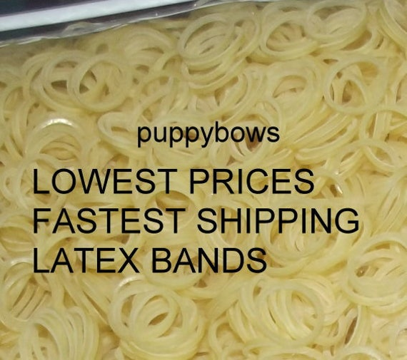 Puppy Bows ~ Latex Dog Grooming Bands ~ XXL Quantities bags  elastic dog bows bow TOPKNOT band ~Usa seller