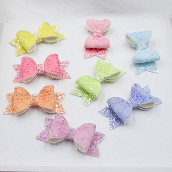 Dog Bows ~ Lace and  glitter bowknot , barrette bow glitter hair clips for pets ~USA seller (fb37)