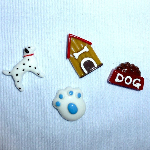 Puppy Bows ~Fun boys set paw print dog house dog bow  pet hair clip barrette or latex bands (fb139)