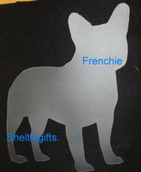 Puppy Bows ~ French Bulldog FRENCHIE dog breed plastic craft stencil
