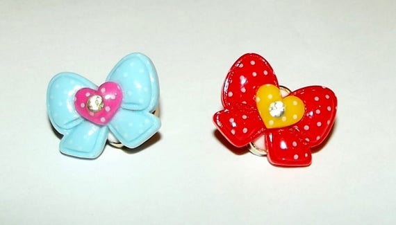 Puppy Bows ~ LIFETIME BOW! small items with changeable never sew latex bands  ~USA seller (fb57)