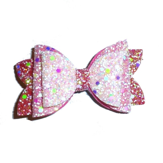 neck strap or  BIG DOG glitter collar slide pet hair bow with plastic ball clip barrette or latex bands  (fb128)
