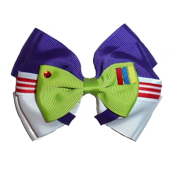 Puppy Bows ~ Buzz lightyear  story bow tie dog collar slide accessory  ~USA seller (DC1)