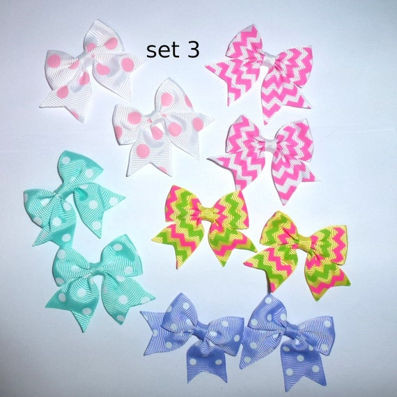 Puppy Bows ~ 10 dog bow for girls - pairs dog grooming pet hair bows - set 3