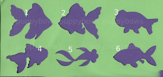 Puppy Bows ~  Goldfish bubble eye comet fantail fish plastic craft stencil