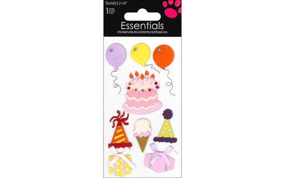 Puppy Bows ~ craft supplies scrapbook wall stickers Essentials birthday party balloons embellishments stickers 1 sheet