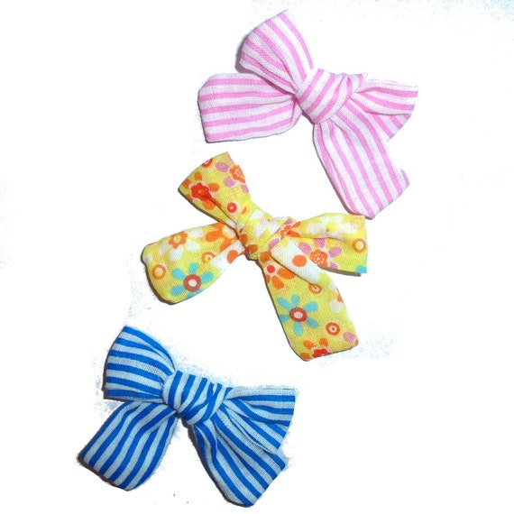 Puppy Bows ~Sweet linen daisy flower dog pet  hair bowknot bow bands or barrette padded (fb231)~USA seller