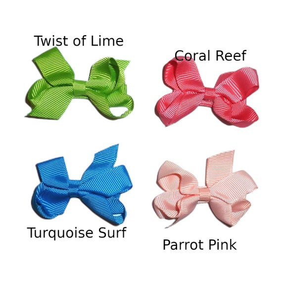 Puppy Bows ~Tropical twisters  hair bowknot bow bands or barrette  (fb220)
