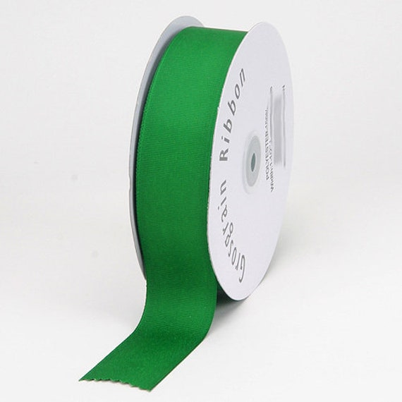 "Puppy Bows ~ ribbon craft supplies 7/8"" grosgrain emerald green 5 yards"