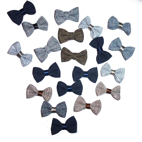 Puppy Bows ~  everyday 10 dog groomers grooming pet hair bows linen boy colors (fb73)