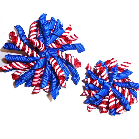 """Puppy Bows multi color stripes Korker loop collar slide 4""""  dog bow 2"""" pet hair clip barrette or latex bands   (fb120)"""