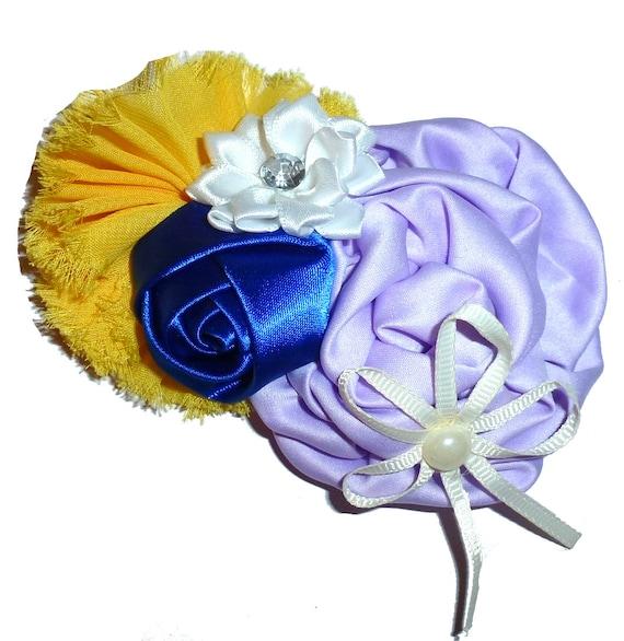 Puppy Bows ~ Dog collar slide bow large dog hair bows lilac navy pearl and rhinestones ~USA seller (dc11)
