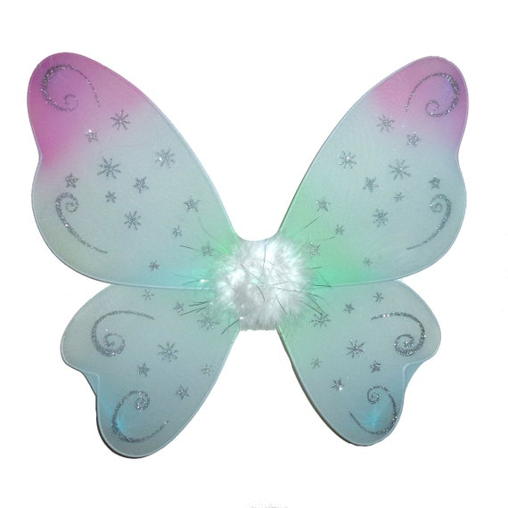 Butterfly mint green rose  wings costume  halloween for medium to large dogs over 40lbs