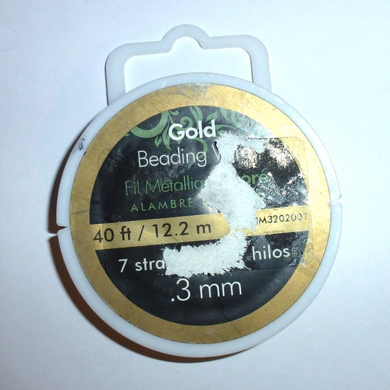 Puppy Bows craft items ~ gold beading wire 40 ft. .3mm