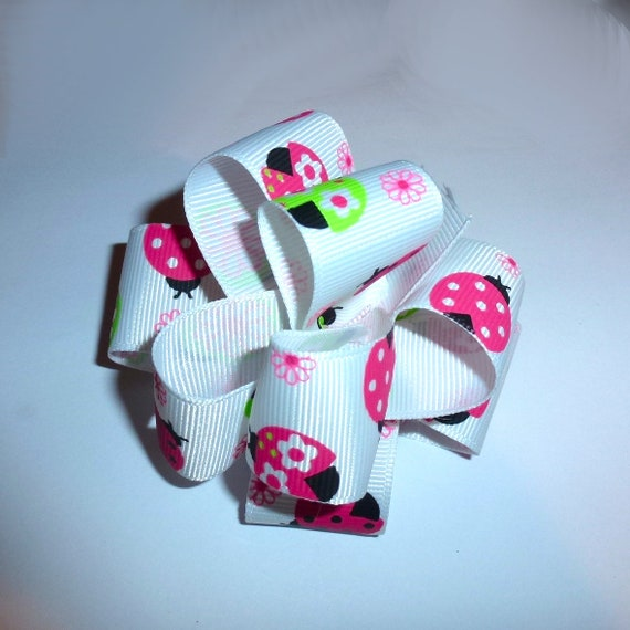 Puppy Bows ~ Dog collar slide party puff hair bow ladybugs flowers  ~USA seller (fb162)