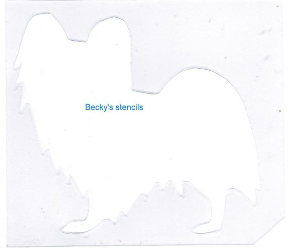 Puppy Bows ~ Papillon butterfly dog breed plastic craft stencil