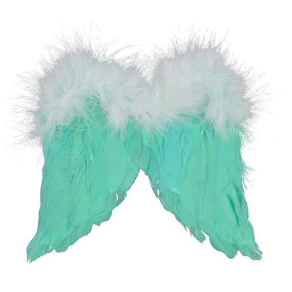 Puppy Bows ~ Halloween Angel wings for cats rabbits small animals  Mint green or pink dog costume feather  5-15 lbs