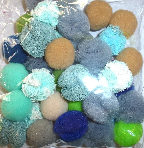Puppy Bows ~ Small puff balls for boy male dog grooming bow all colors of tulle pet pom poms (P25)