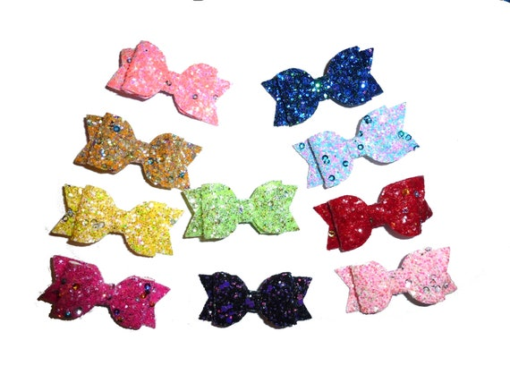 Sensational sequin glitter dog bow many colors many attachments lots of bling 16 color choices!  ~Usa seller  (fb205)