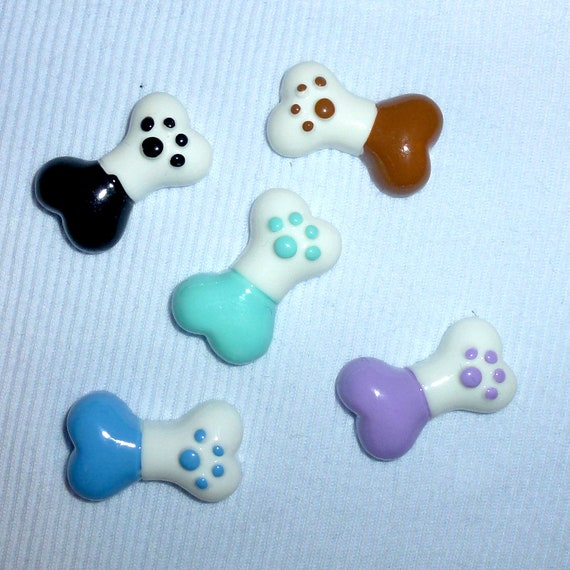 Puppy Bows ~CUTE paw print dog bone  dog bow  pet hair clip barrette or latex bands (fb139)