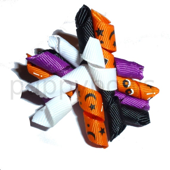 Puppy Dog Bows ~ Halloween korker  pet hair show bow barrettes or bands