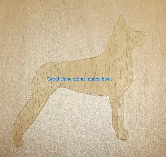Puppy Bows ~ Great Dane dog breed plastic craft stencil