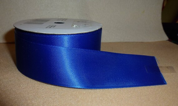 "Puppy Bows ~  craft supplies royal blue single face ribbon 1 5/16"" x 8 yards (CS2)"