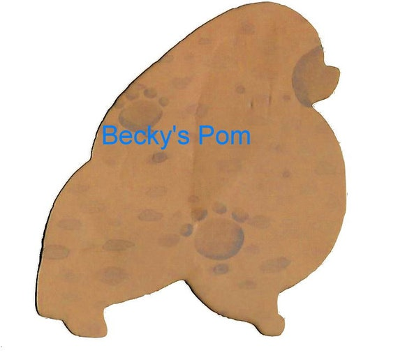 Puppy Bows ~ Pomeranian dog breed plastic craft stencil