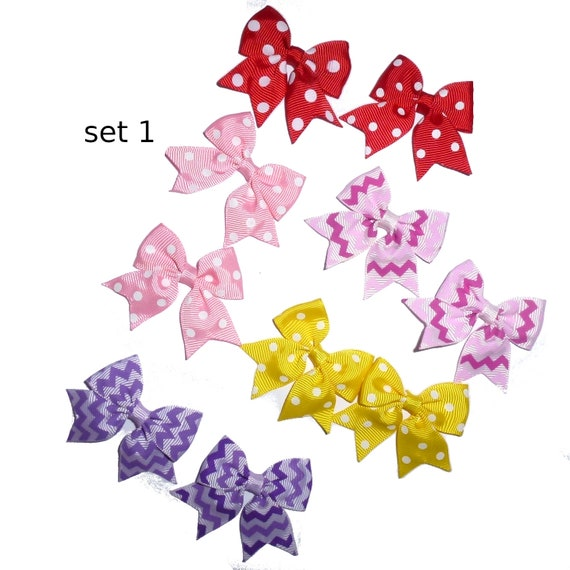 Puppy Bows ~ 10 dog bow for girls - pairs dog grooming pet hair bows - set 1