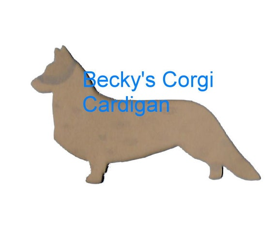 Puppy Bows ~ Pembroke or Welsh Cardigan corgi plastic craft stencil