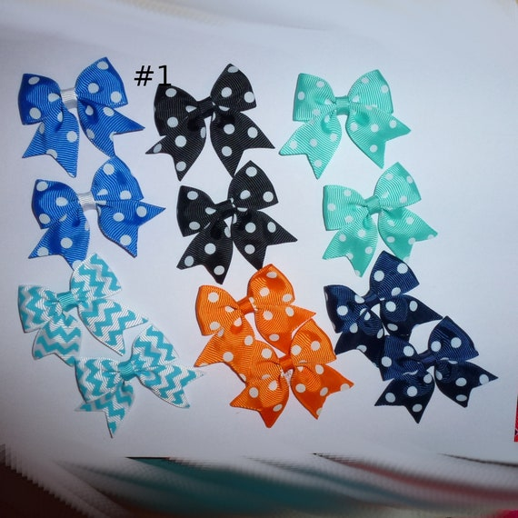 Puppy Bows ~ 12  everyday dog groomers grooming pet hair bows boy colors polka dots chevron stripes paw prints