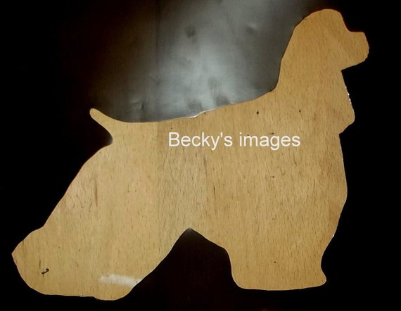 Puppy Bows ~ Cocker Spaniel  English Cocker dog breed plastic craft stencil
