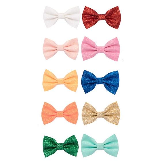 "Dog Bows ~ Bowtie glitter 2.5"" hair bow , barrette bow glitter hair clips for pets ~USA seller (fb208)"