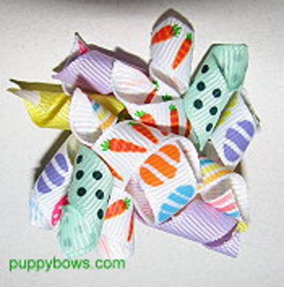 Korky Korker dog bows for Poodles, Havanese, Papillion barrette pet hair