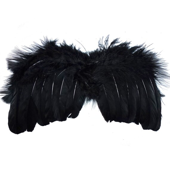 Puppy Bows ~ Halloween Angel wings for dogs BLACK dog costume feather FREE SHIPPING fit 5lb - 25lb