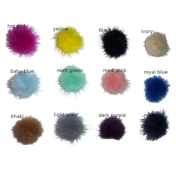 "Puppy Bows ~  1.5"" fuzzy feather fur marabou ball puff  pet dog hair bow (fb4)"