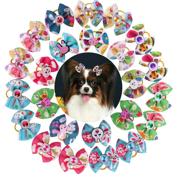 Easter bunny spring everyday dog groomers grooming pet hair bows (fb276)
