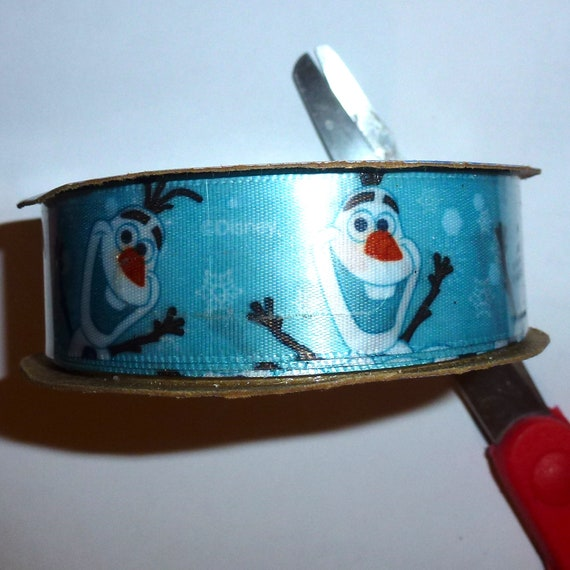 Puppy Bows ~ ribbon craft supplies roll olaf frozen ribbon blue ~ US seller
