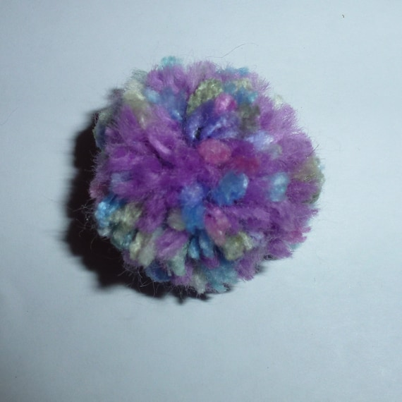Puppy Bows craft items ~  10 multicolor purple pom poms 1.75""