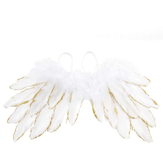 Halloween Silver, Gold, or gold pink tipped angel feather wings costume fit 5lb - 25lb FREE SHIPPING