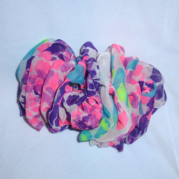 Becky Bows ~  Barrette ribbon Hand crafted over sized  BIG hair bow Women or Girls pink purple