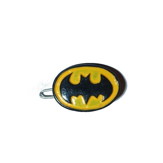 "Puppy Bows ~ Dog bow for boys batman 1"" clip small pet hair clips (fb189)"
