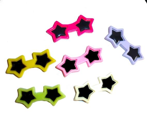 Puppy Bows ~ Dog bow sunglasses stars pet hair barrette clip ~USA seller