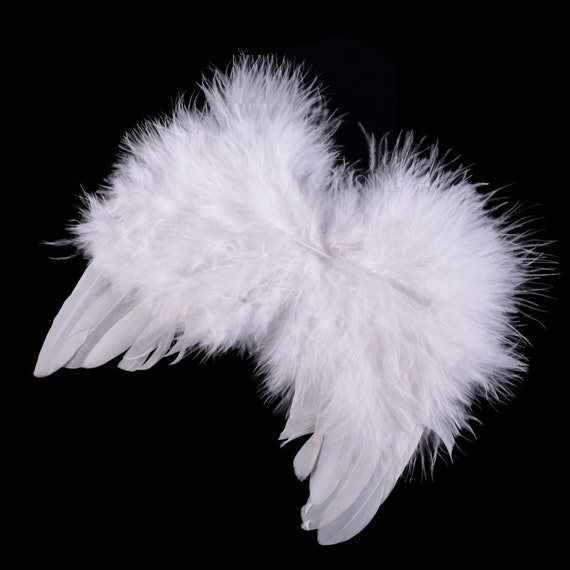 Puppy Bows ~ Halloween Angel wings for cats rabbits small animals white or pink dog costume feather  2 - 7lbs