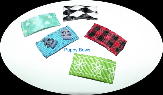 Dog barrettes in fun and flirty designs for dog bows