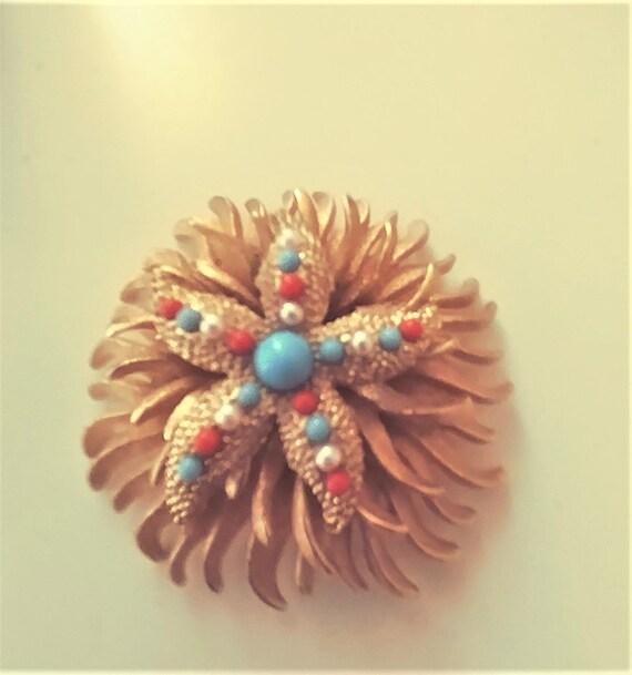 Large Starfish Brooch / Pin / Starfish Jewelry / … - image 2