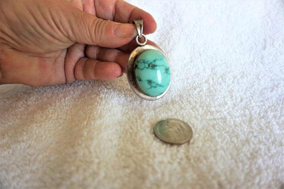 Turquoise Pendant / Large Turquoise Pendant / Turq