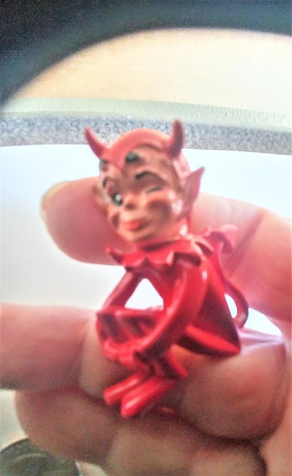 Winking Devil Brooch / Pin /Extremely Rare Brooch… - image 2