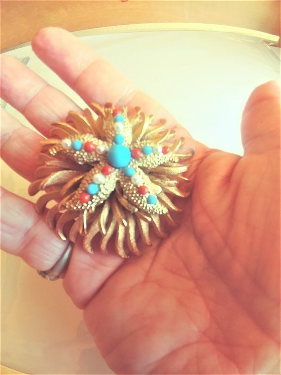 Large Starfish Brooch / Pin / Starfish Jewelry / … - image 1